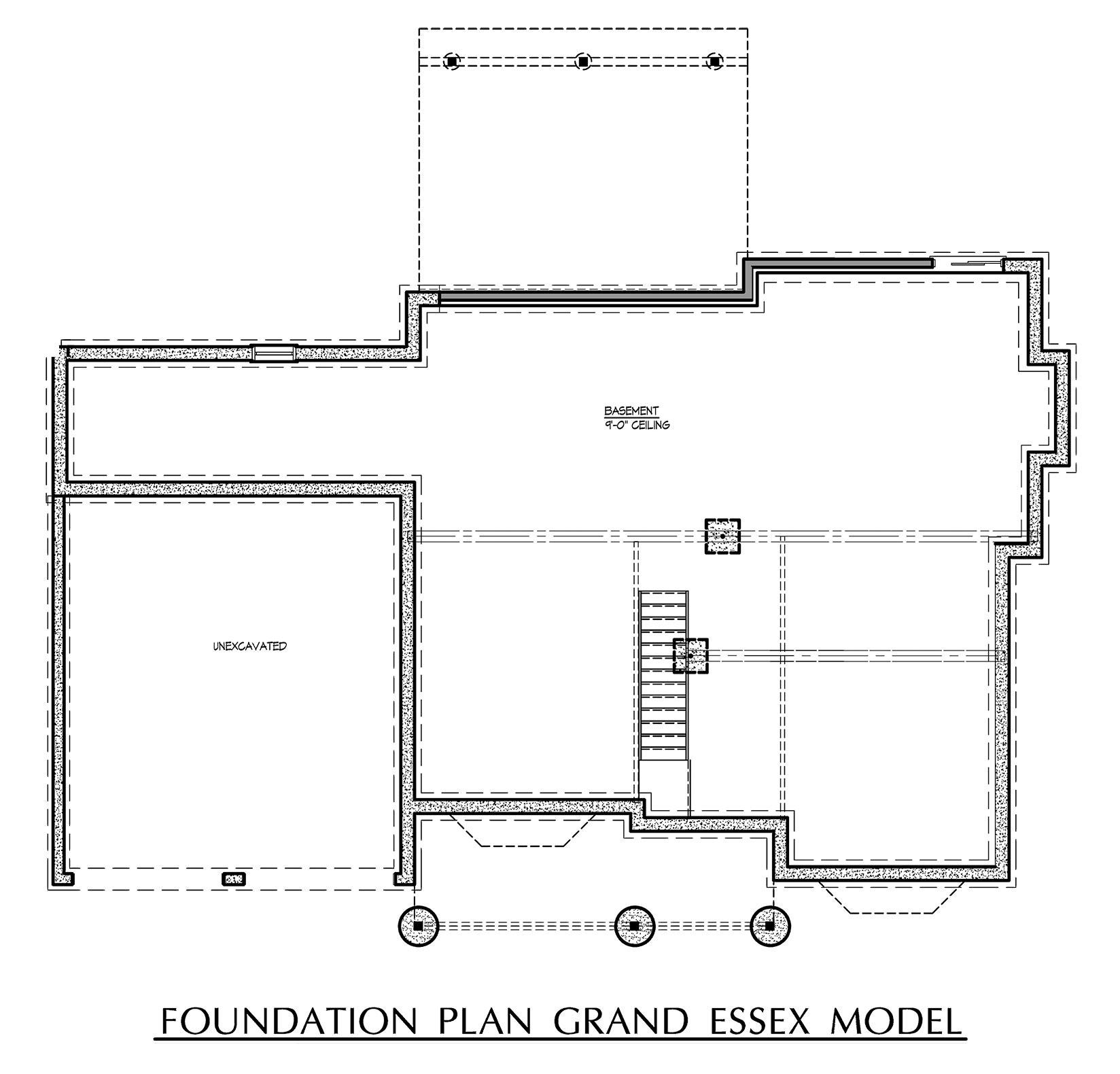 Grand Essex - Basement Floor Plan