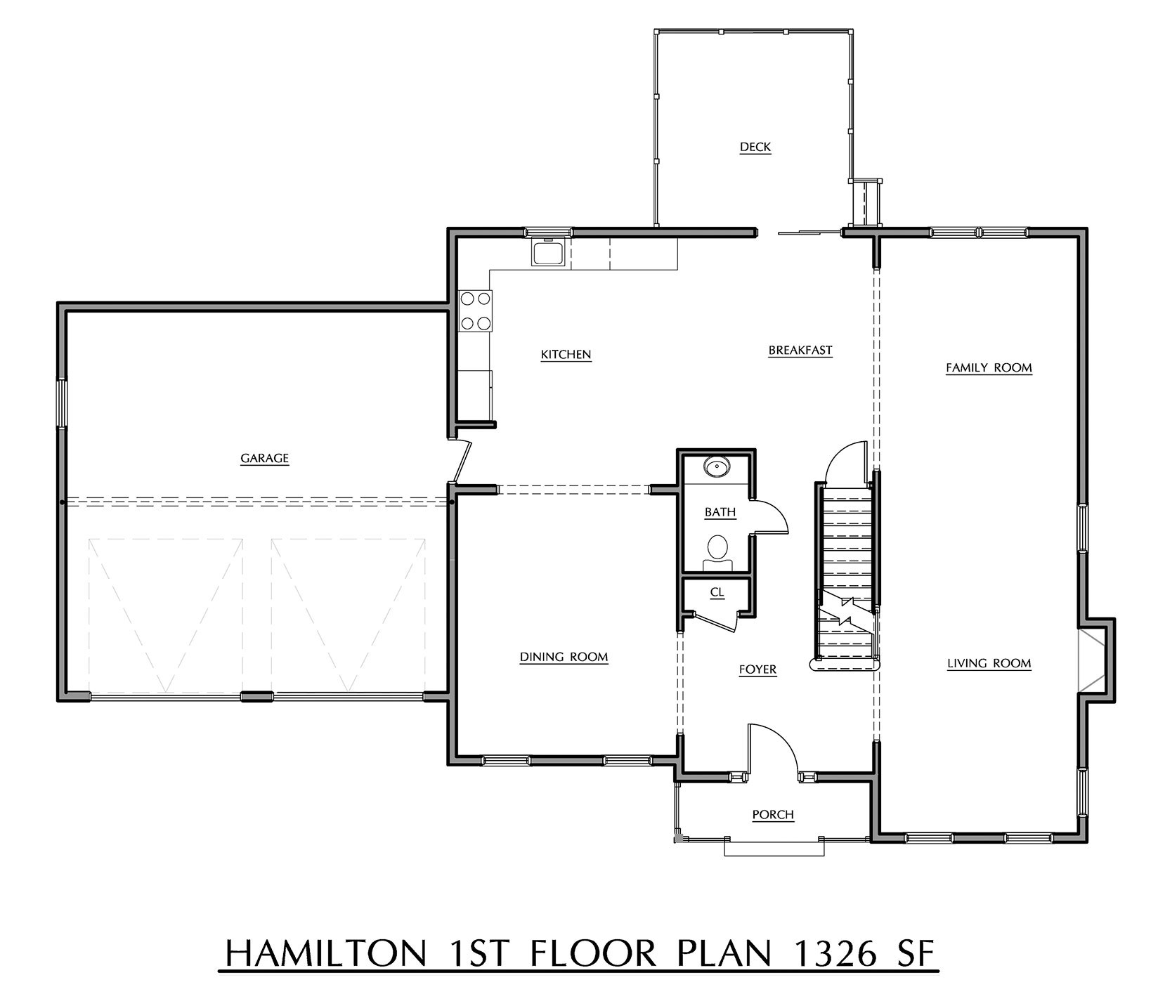 Hamilton - First Floor Plan