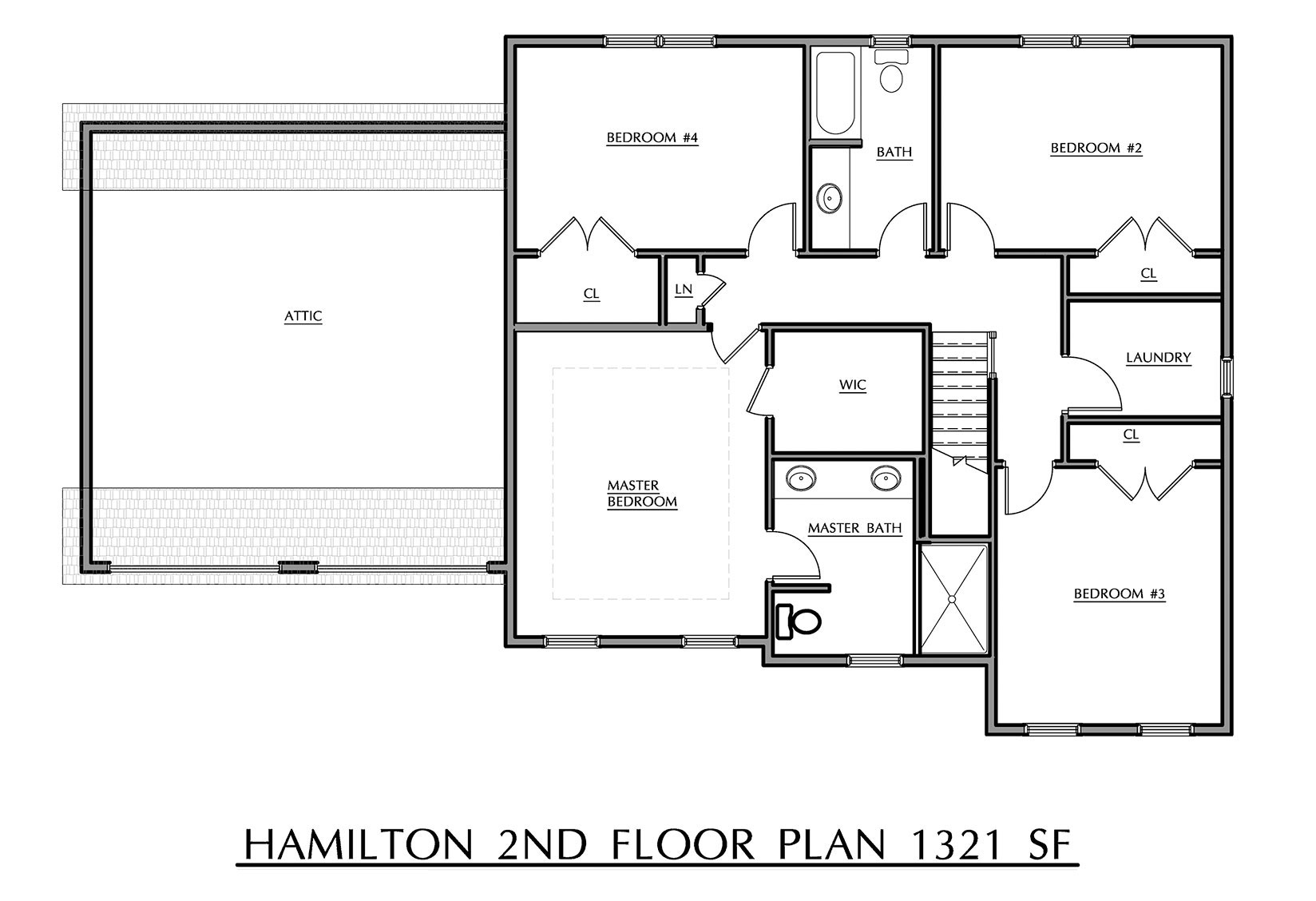 Hamilton - Second Floor Plan