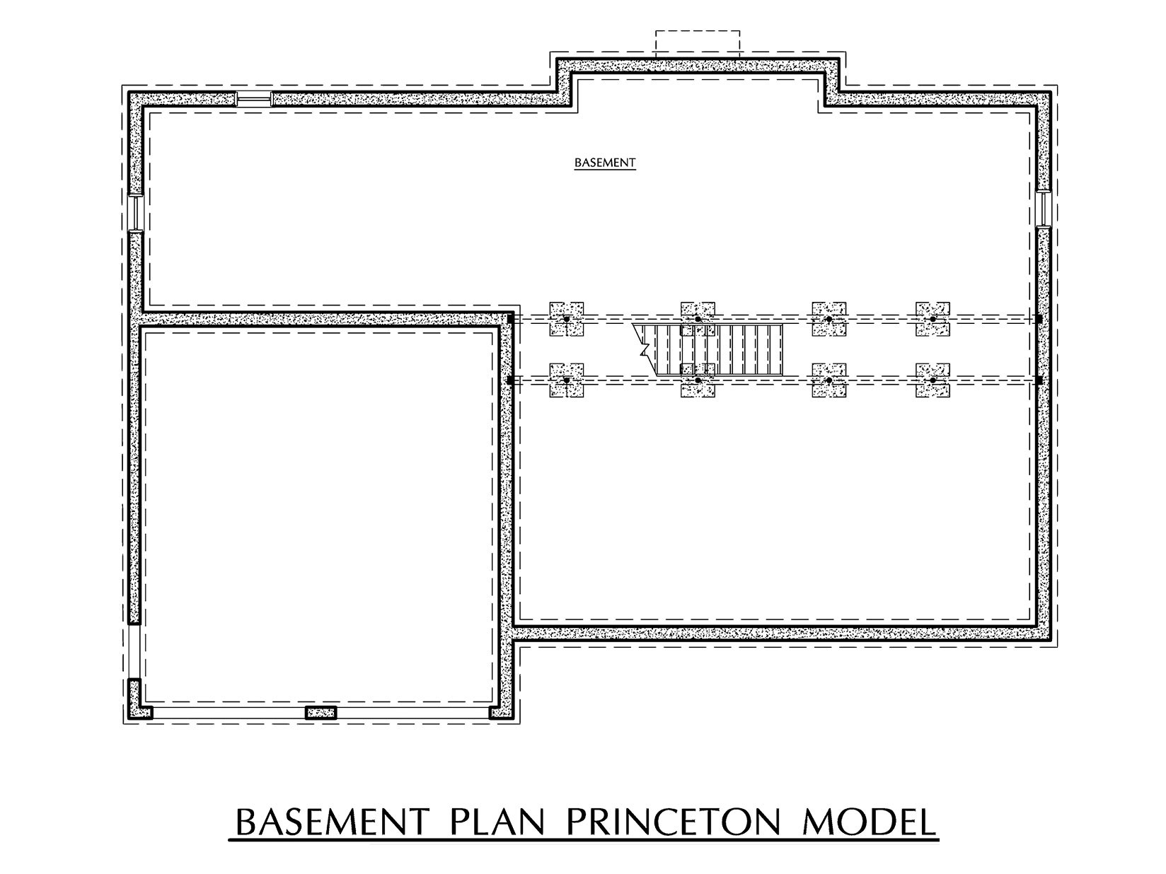 Princeton - Basement Floor Plan