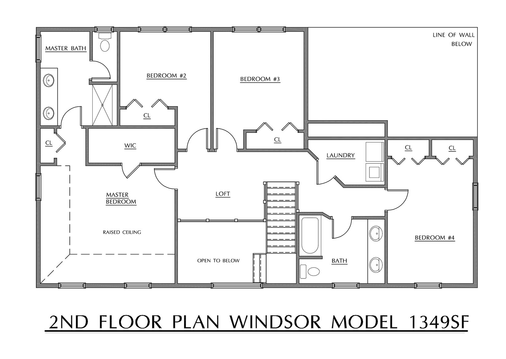 Windsor - Second Floor Plan